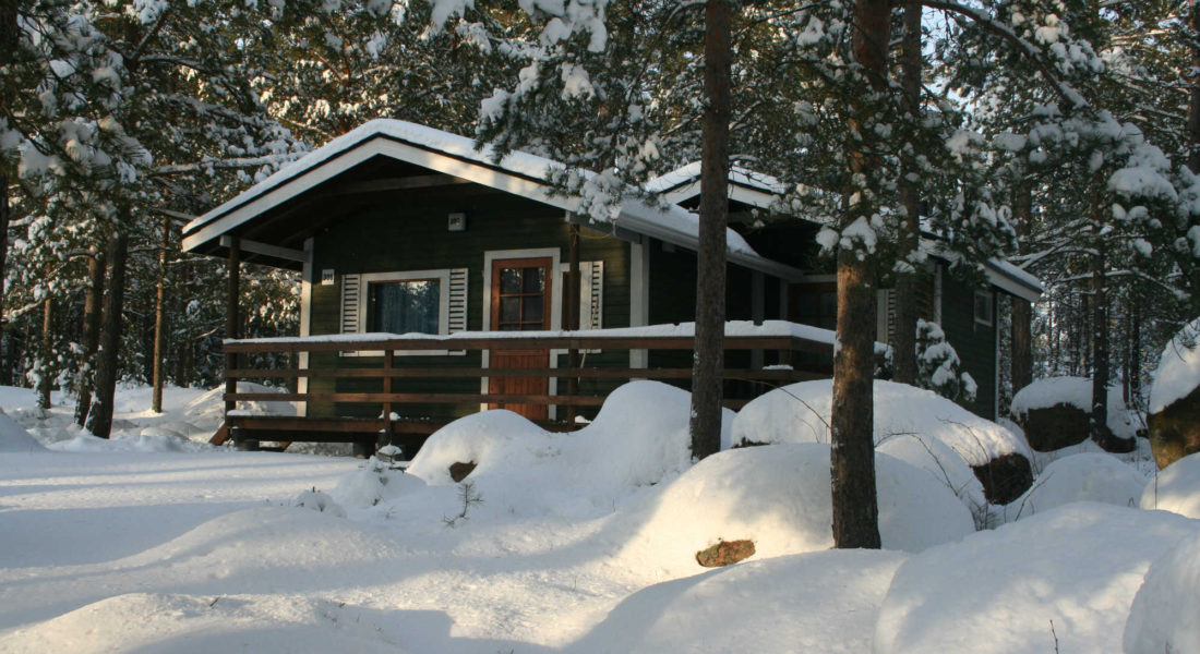 Sauna cottage outside