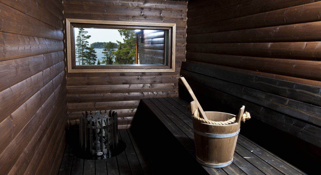 Sauna in luxury apartments