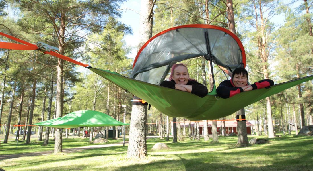 Glamping tree tents
